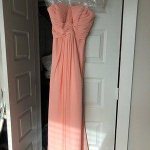 David's Bridal, Bellini strapless bridesmaid dress